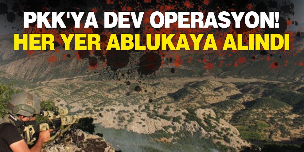 PKK'ya dev operasyon! Her yer ablukaya alındı