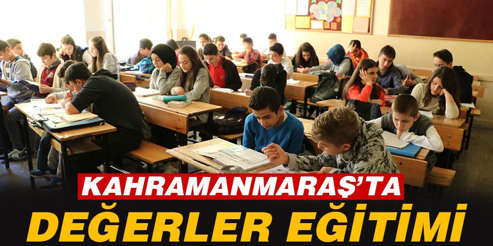 Kahramanmaraş'ta değerler eğitimi