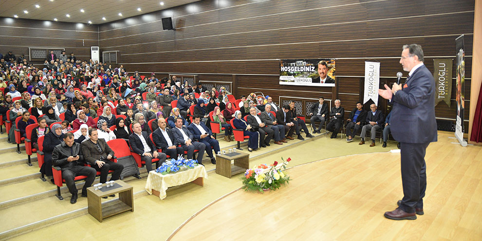 Prof. Dr. Mustafa Karataş Türkoğlu'nda