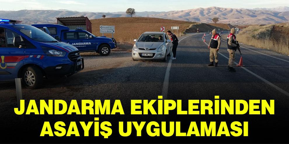 Jandarma ekiplerinden asayiş uygulaması