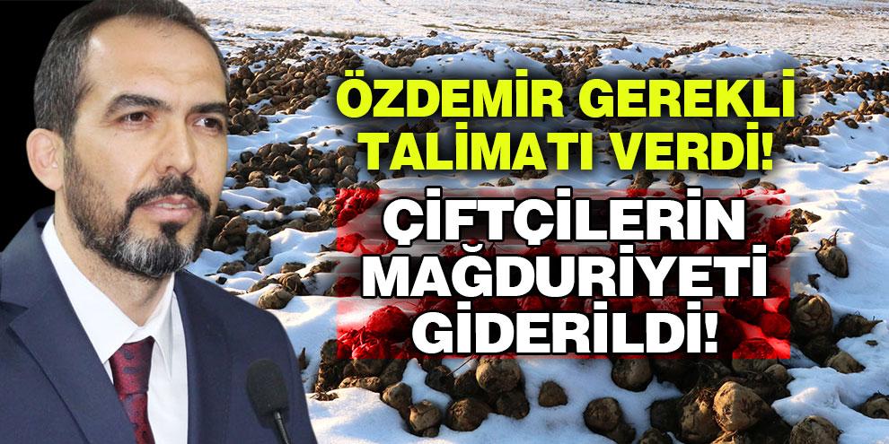 Çiftçilerin mağduriyeti giderildi! Ahmet Özdemir gerekli talimatı verdi