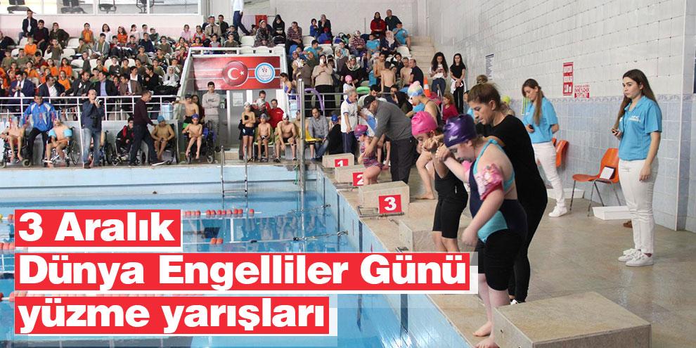 3 Aralık Dünya Engelliler Günü yüzme yarışları