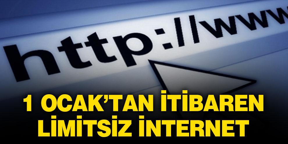 On milyondan fazla aboneye bir gecede limitsiz internet