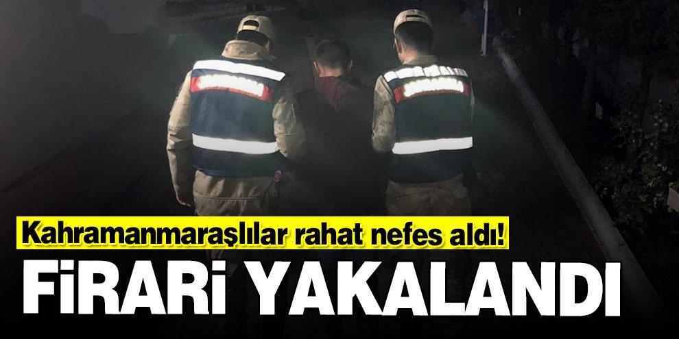 Kahramanmaraşlılar rahat nefes aldı! Cezaevi firarisi yakalandı