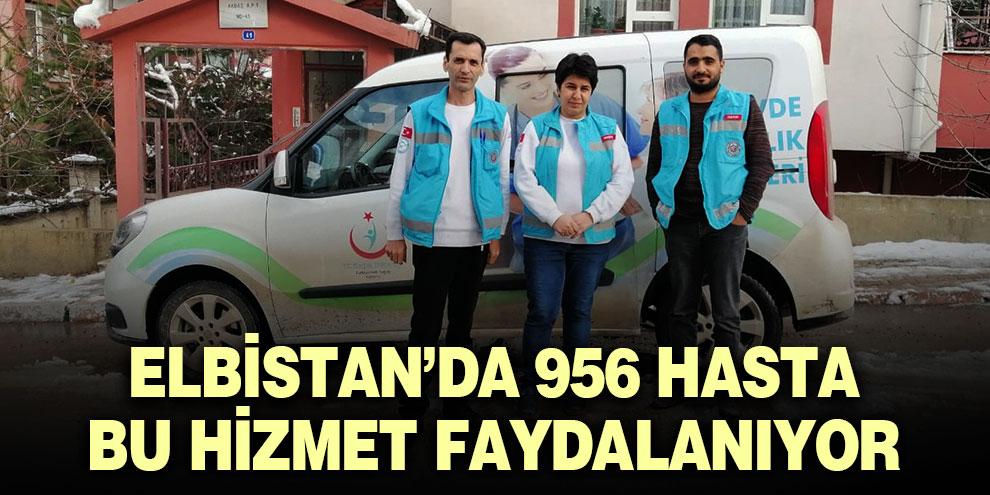 Elbistan'da 956 hasta bu hizmet faydalanıyor