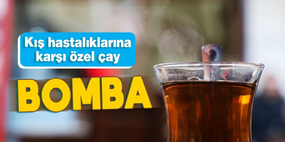 """Kış hastalıklarına karşı özel çay: """"Bomba"""""""