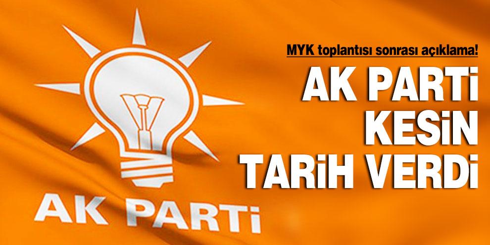 MYK toplantısı sonrası açıklama! AK Parti kesin tarih verdi