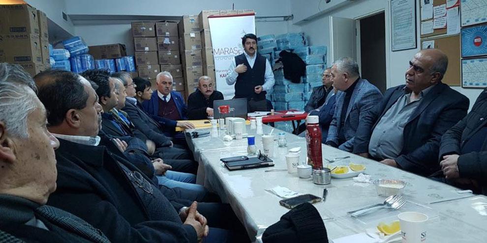 MARAŞFED delegeleri ile buluştu