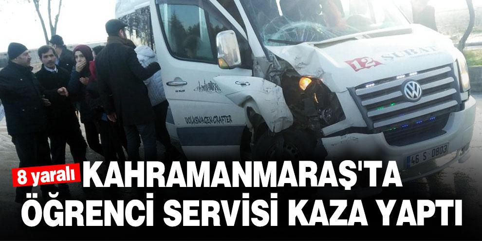Gizli buzlanma! Kahramanmaraş'ta öğrenci servisi kaza yaptı! 8 yaralı