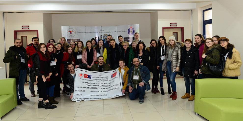 KSÜ, AB Projesiyle Kahramanmaraş'a gelen gençleri ağırladı