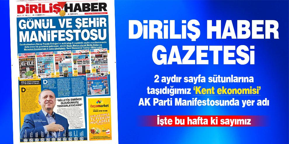 Diriliş Haber Gazetesi bu hafta ki sayısı! Sayı 195
