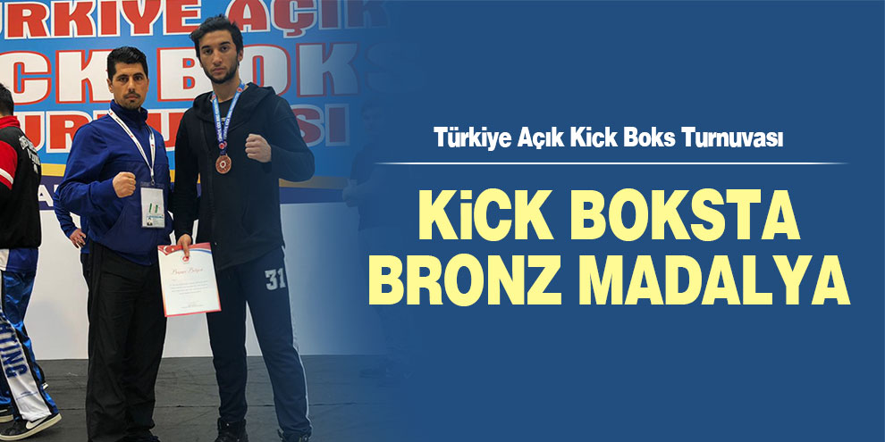 Kick boksta bronz madalya
