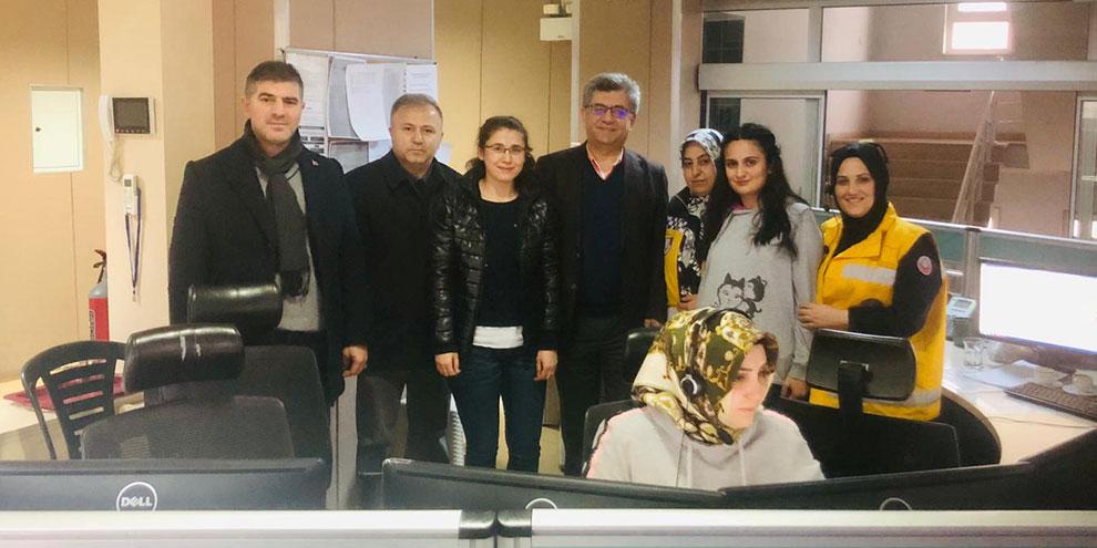 Prof. Dr. Sefer Aycan'dan 112 AÇM'ye ziyaret