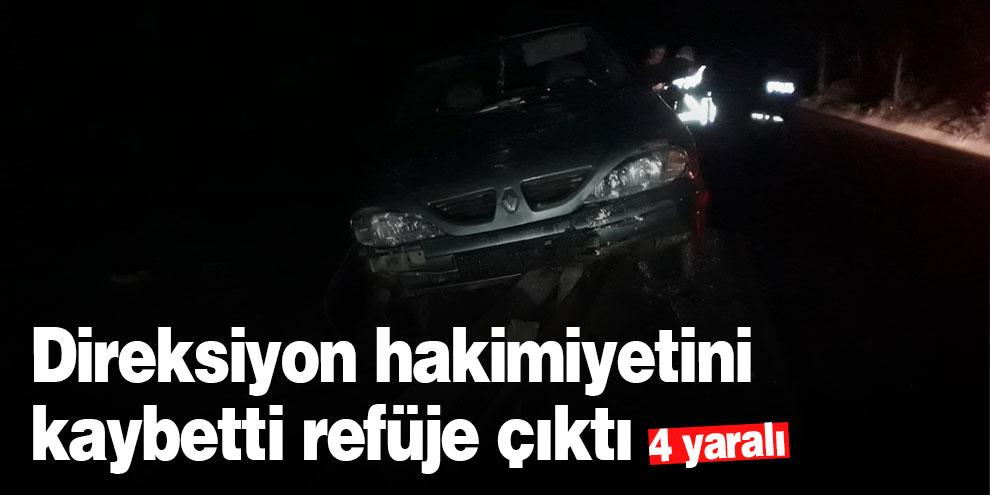 Kahramanmaraş'ta otomobil refüje çarptı