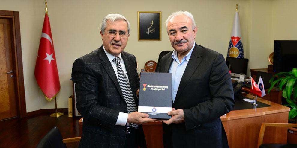 KSÜ Rektörü Can, Eğitimci-Yazar Vehbi Vakkasoğlu'nu ağırladı