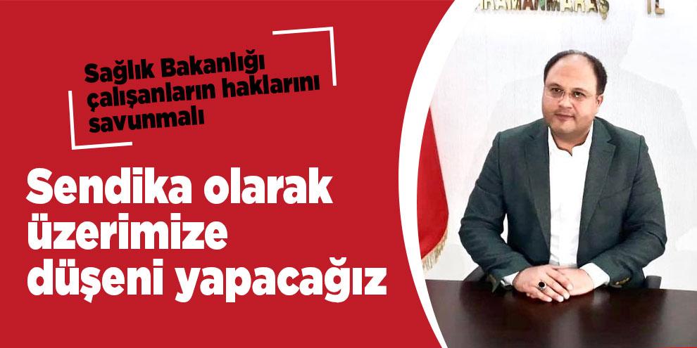 Başkan Demirci, sağlık çalışanlarının köklü sorunlarına değindi