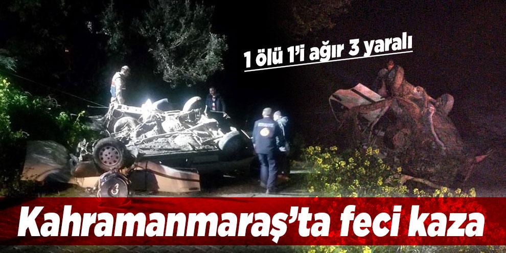 Kahramanmaraş'ta otomobil direğe çarptı: 1 ölü, 3 yaralı