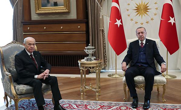 Cumhurbaşkanı Erdoğan, MHP Lideri Bahçeli ile görüşüyor