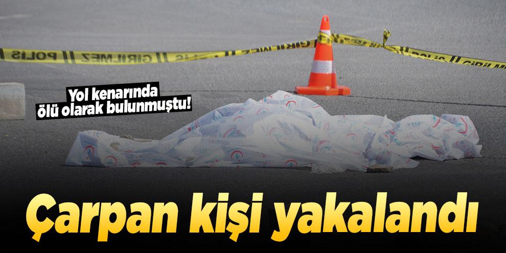 Yol kenarında ölü olarak bulunmuştu! Çarpan kişi yakalandı