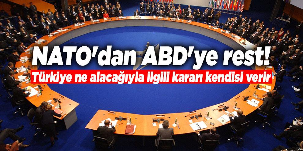 """""""Türkiye ne alacağıyla ilgili kararı kendisi verir"""""""