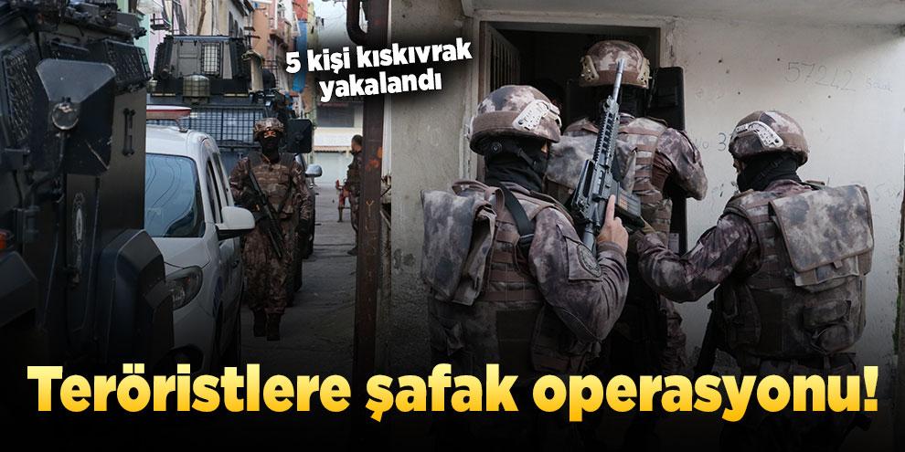 Jandarma ekiplerinden PKK operasyonu! 5 gözaltı