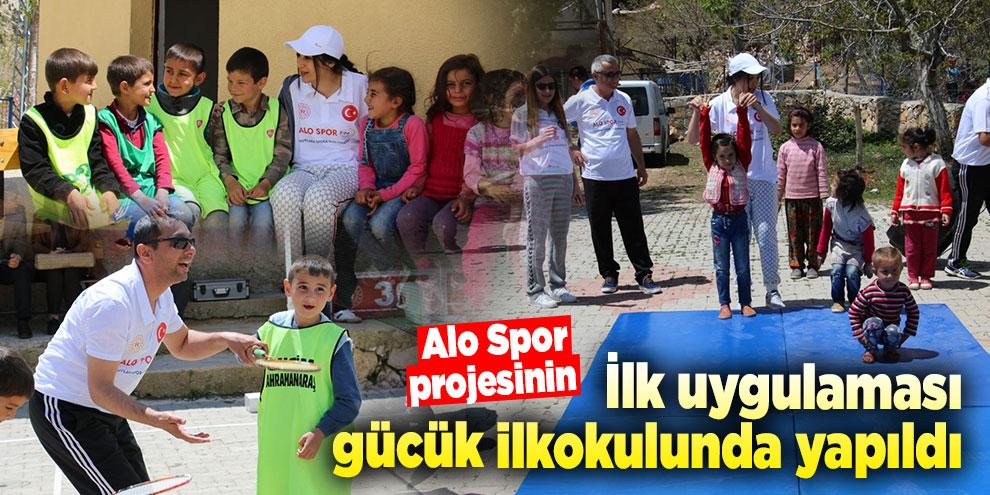 Alo Spor projesinin ilk uygulaması gücük ilkokulunda yapıldı