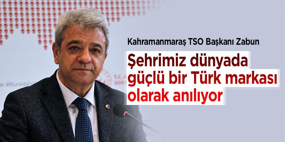 """Zabun: """"Şehrimiz dünyada güçlü bir Türk markası olarak anılıyor"""""""