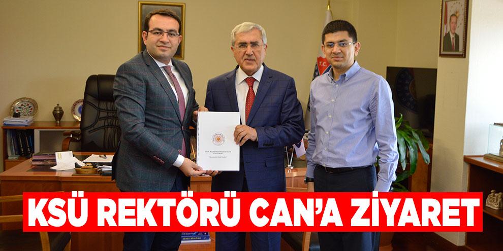 Genç Kahramanmaraşlılar Platformundan, KSÜ Rektörü Can'a ziyaret