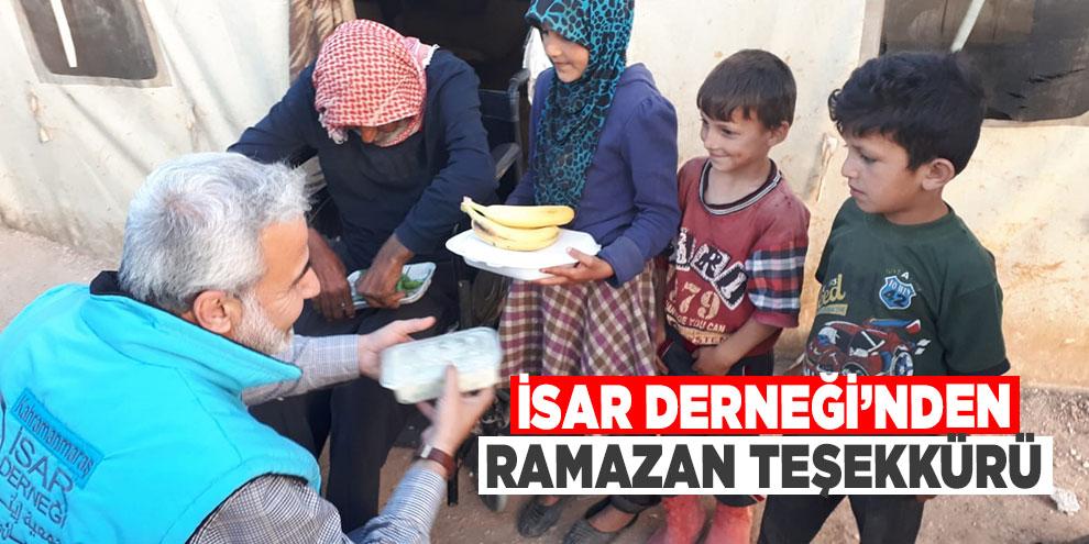 İsar Derneği'nden ramazan teşekkürü