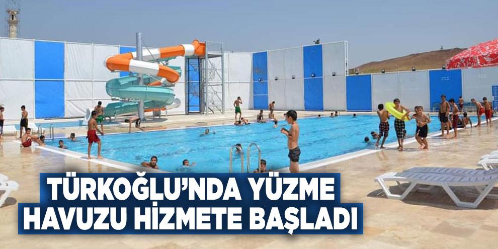 Türkoğlu'nda yüzme havuzu hizmete başladı