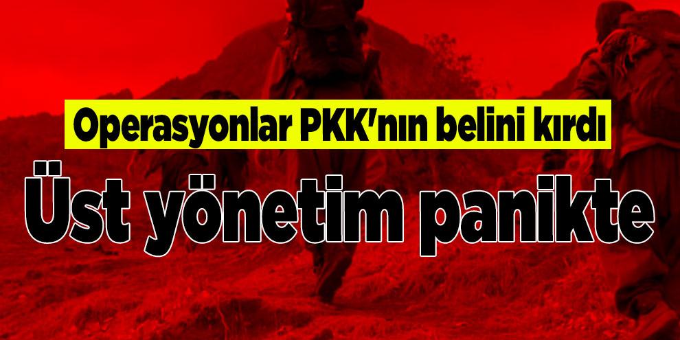 Operasyonlar PKK'nın belini kırdı: Üst yönetim panikte