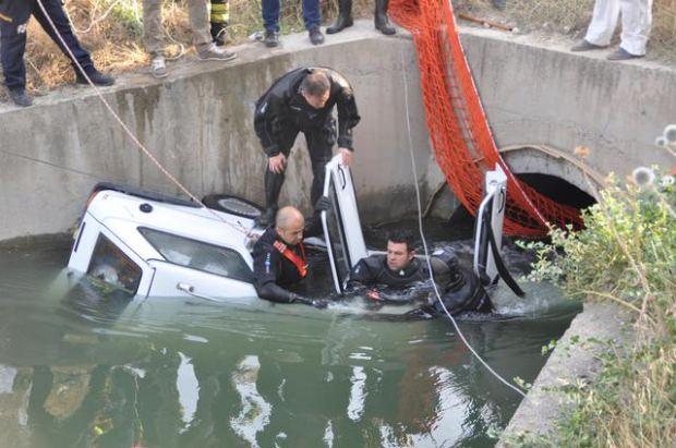 Sulama kanalında feci kaza! Çoban görünce ortaya çıktı