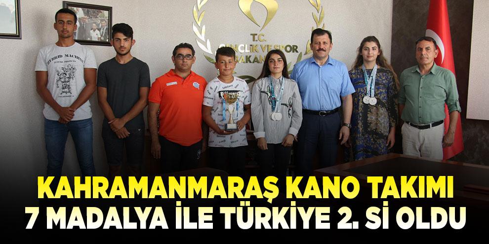 Kahramanmaraş kano takımı 7 madalya ile Türkiye 2. si oldu