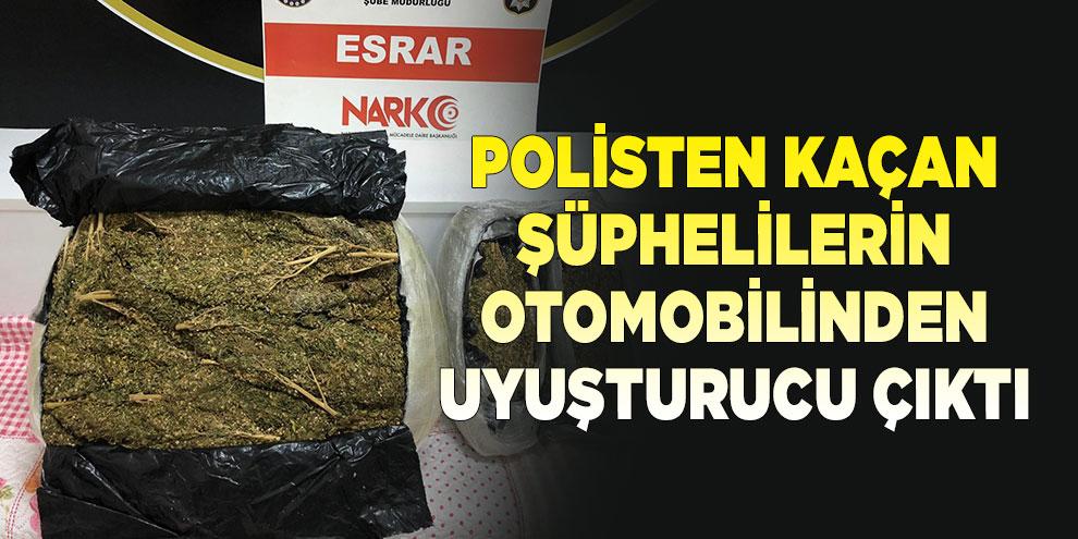 Polisten kaçan şüphelilerin otomobilinden 12,5 kilo uyuşturucu çıktı