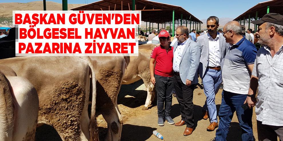 Başkan Güven'den bölgesel hayvan pazarına ziyaret