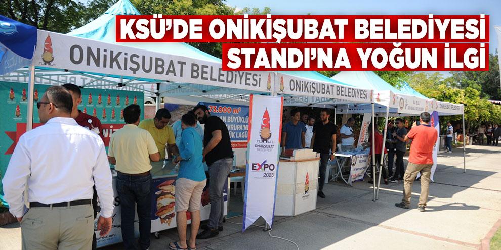 KSÜ'de Onikişubat Belediyesi Standı'na yoğun ilgi