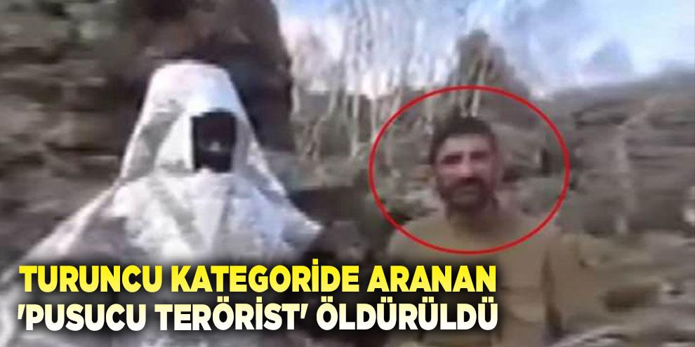 Turuncu kategoride aranan 'Pusucu terörist' öldürüldü