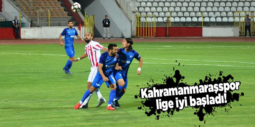 Kahramanmaraşspor lige iyi başladı!