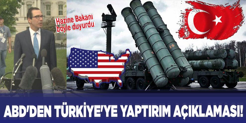 ABD'den Türkiye'ye yaptırım açıklaması!