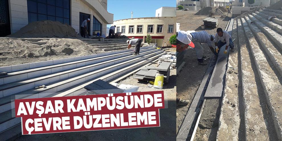 Avşar kampüsünde çevre düzenleme
