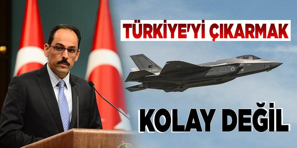 Türkiye'yi F-35 programından çıkarmak kolay değil