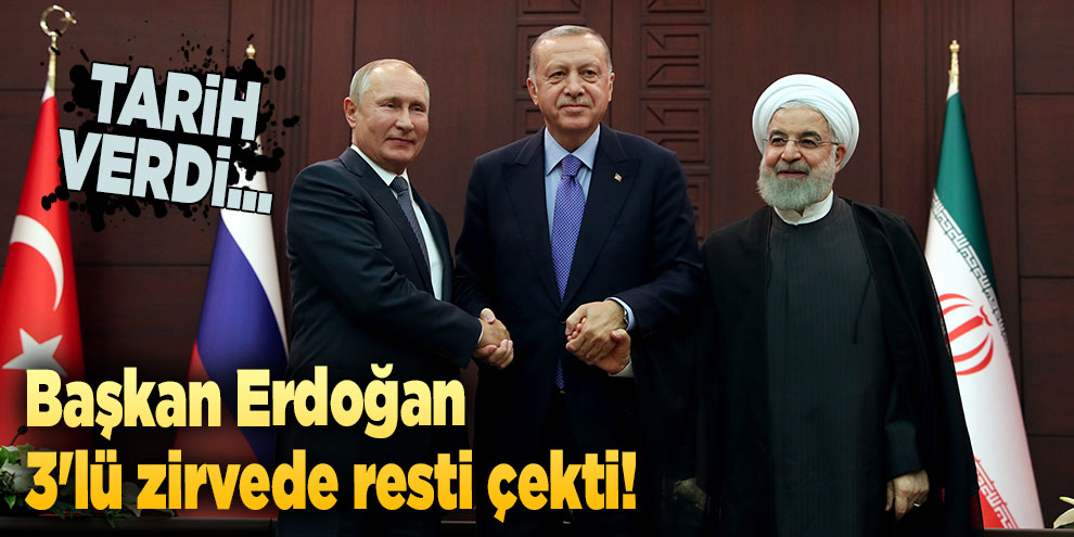 Başkan Erdoğan 3'lü zirvede resti çekti! Tarih verdi...