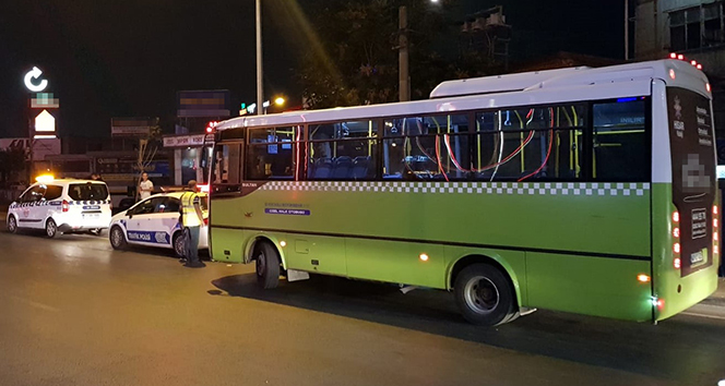 Kocaeli'deki halk otobüslerinden çıkanlar şok etti