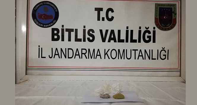 Bitlis'te 78 gram eroin ele geçirildi