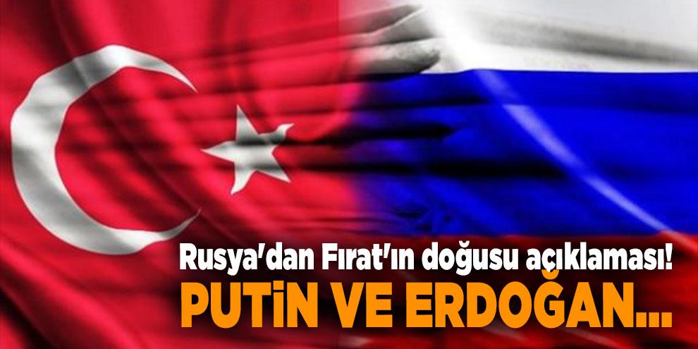 Rusya'dan Fırat'ın doğusu açıklaması! Putin ve Erdoğan...