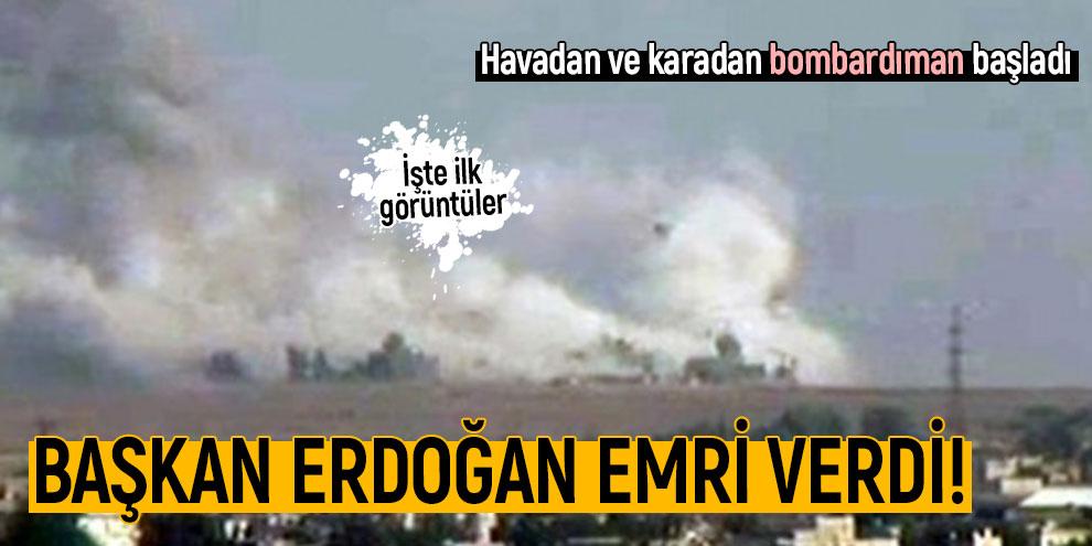 Başkan Erdoğan başlama emrini verdi! İşte ilk görüntüler