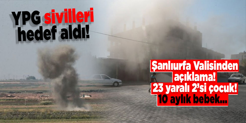 YPG sivilleri hedef aldı! Çok sayıda yaralı