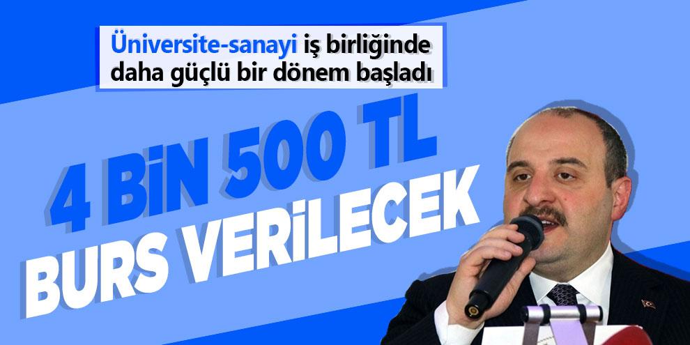 Bakan Varank açıkladı: '4 bin 500 TL burs verilecek'