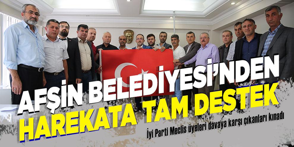 Afşin Belediye Meclisinden, Barış Pınarı Harekâtına tam destek