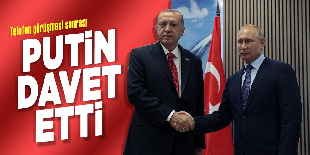 Putin, telefon görüşmesinin ardından Erdoğan'ı davet etti